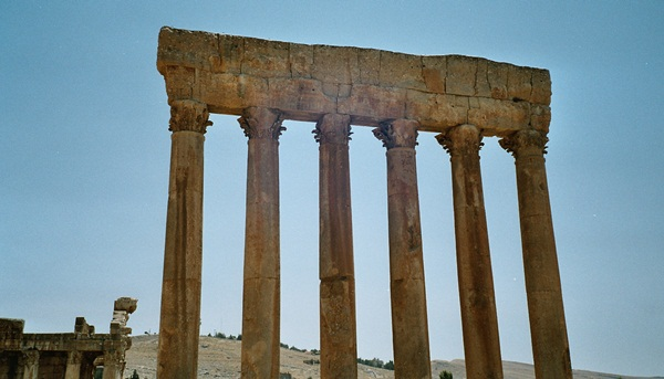 Säulen des Jupitertempels in Baalbek