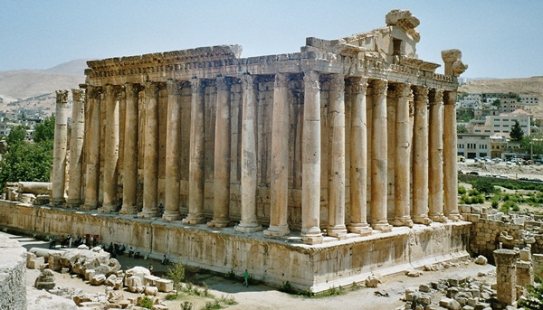 Bacchus Tempel in Baalbek, Libanon