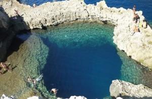 blue hole malta gozo