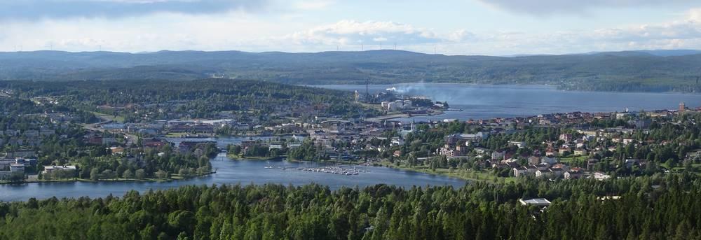 Blick auf Härnösand Panorama