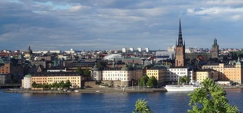 Blick auf Riddarholmen Panorama Stockholm 800 x 372