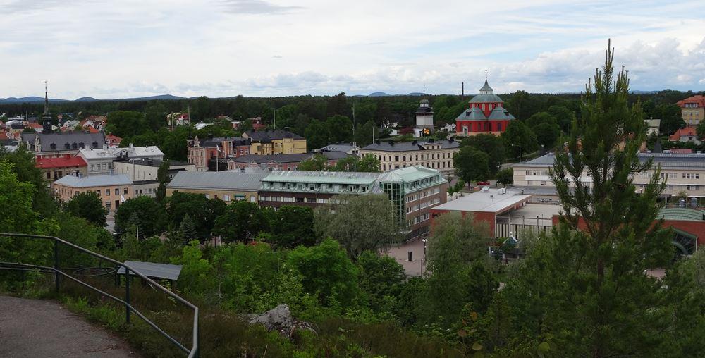 Söderhamn Blick Aussicht von Oscarsborg