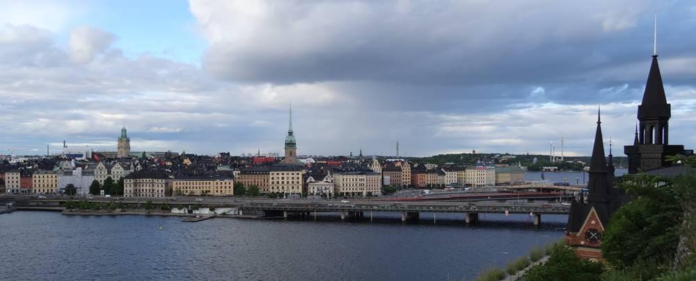 Blick auf Gamla Stan Stockholm vom Montelinsvägen