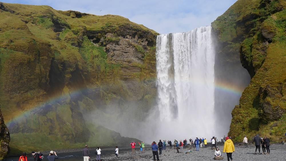 Skogarfoss Wasserfall Island