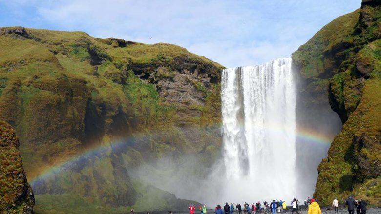 skogafoss island waldwasserfall
