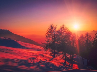winterurlaub reise geheimtipps sonnenaufgang