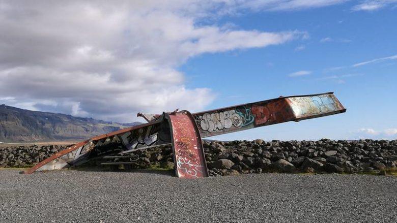 gletscherlauf stahlträger skeidararsandur island